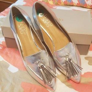 Franco Sarto flats. Pointy toe, tassels, size 8